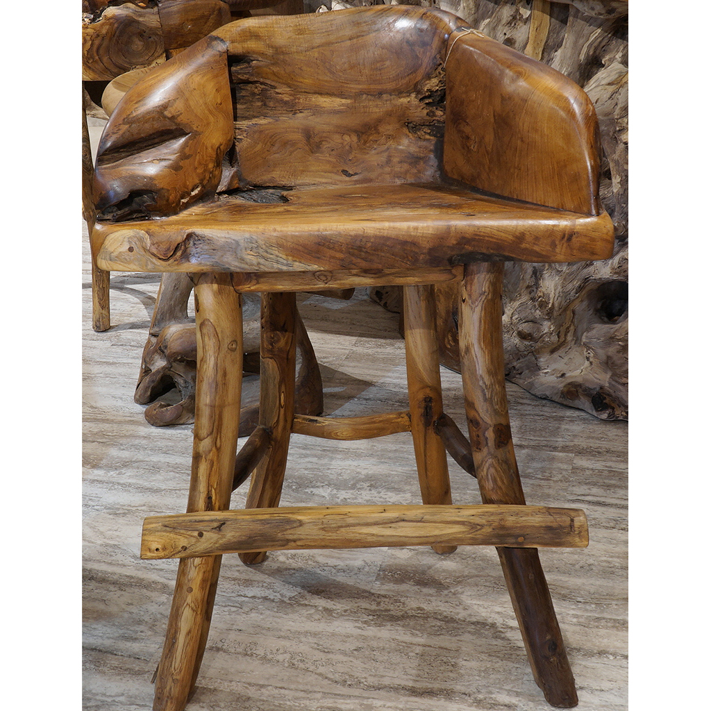 teak wood bar stool