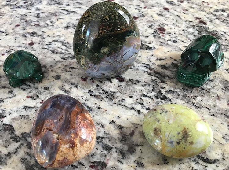 gem and mineral specimens