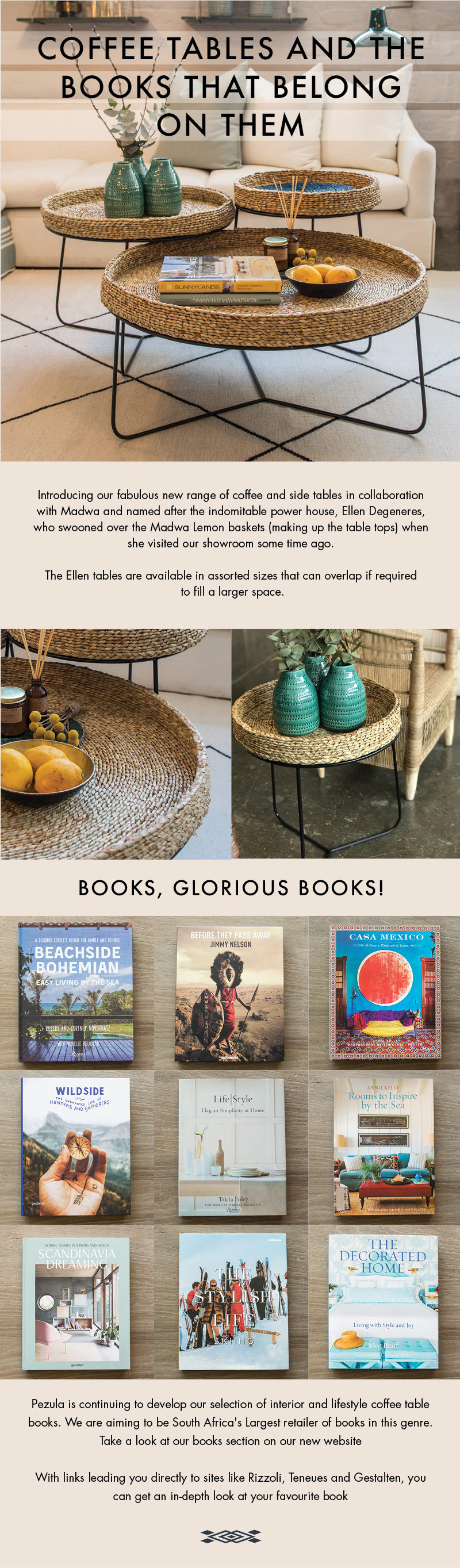 COFFEE TABLES & THE BOOKS THAT BELONG ON THEM – Pezula Interiors