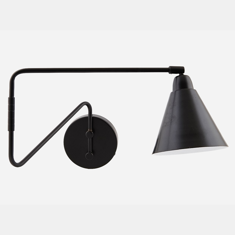 Game Wall Lamp Double Arm Black