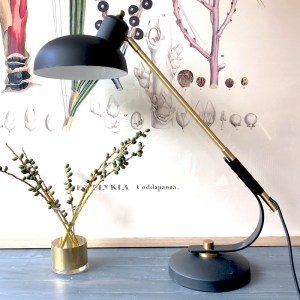 Table Lamp Black Brass