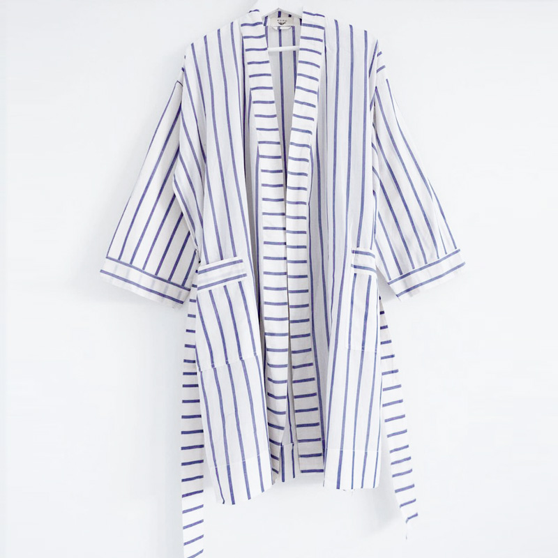 Ikat Stripe Robe Short