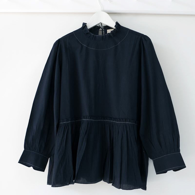 Poets Blouse Navy