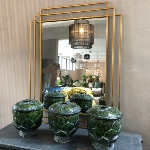 Deco Mirror Gold1