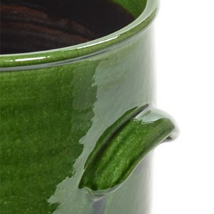 Green Pot with Handles
