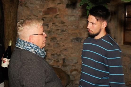 Gunther Hauck mit Weinfreund Nils Stuiver
