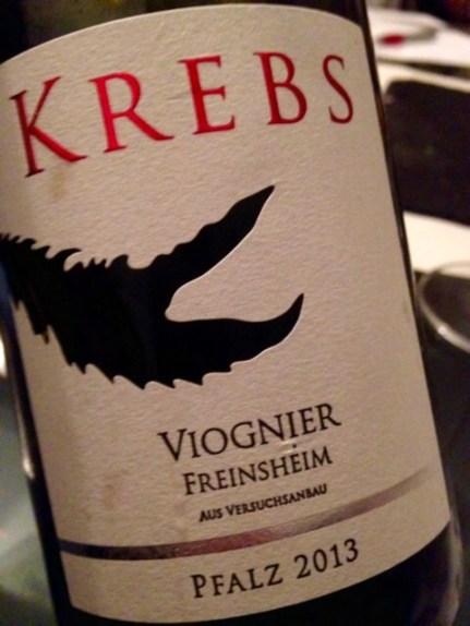 2013 Viognier, Krebs