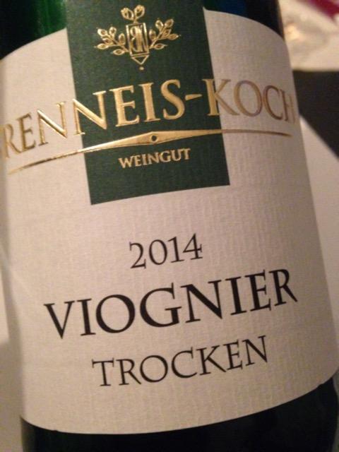 2014 Viognier Spätlese tr, Brenneis-Koch