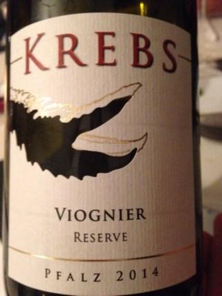 2013 Viognier Reserve, Krebs