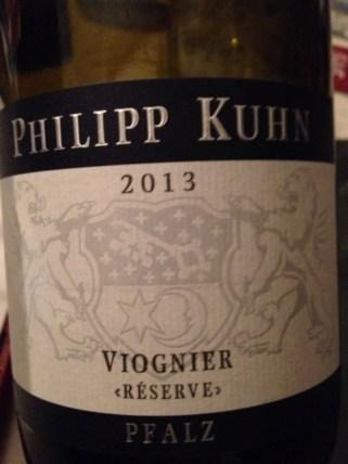 2013 Viognier Reserve, Kuhn