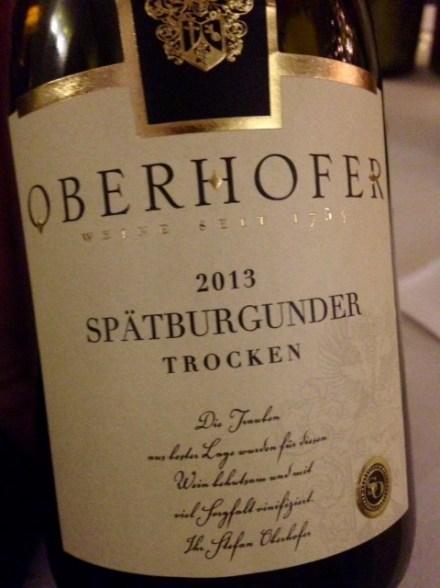 2013 Spätburgunder trocken, Oberhofer