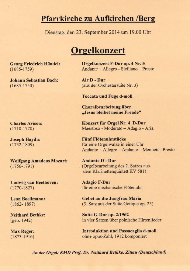 Orgelkonzert-Aufkirchen