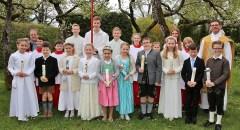 Erstkommunion in Aufkirchen am 23.April 2017