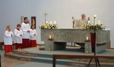 Prälat Wolfgang Schab bei der Abschlussfeier zum Hl Jahr in Percha
