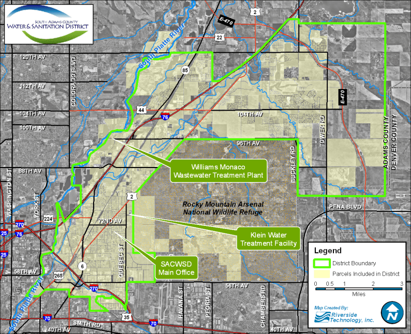 Metro Denver Map.North Metro Denver Groundwater Contaminated With Pfass Is Flowing