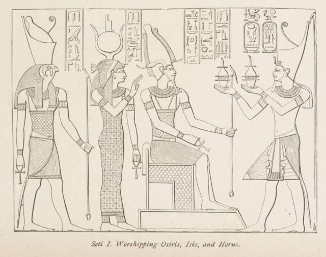 Seti_I._Worshipping_Osiris,_Isis,_and_Horus._(1884)_-_TIMEA