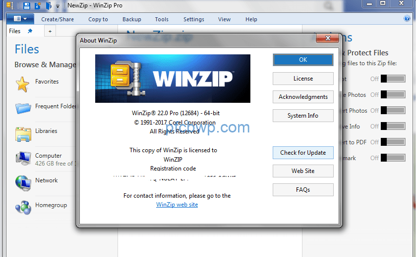 WinZip Pro 24.0 Build 13681 Crack [Activation Code] Full Latest 2019