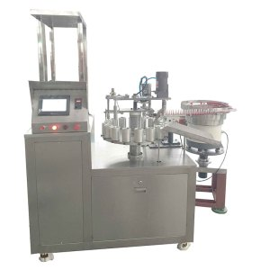 Automatic adhesives filling capping machine