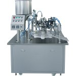 semi auto laminated tube filling machine