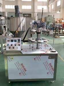 FGF-5 semi auto plastic tube filling sealing machine