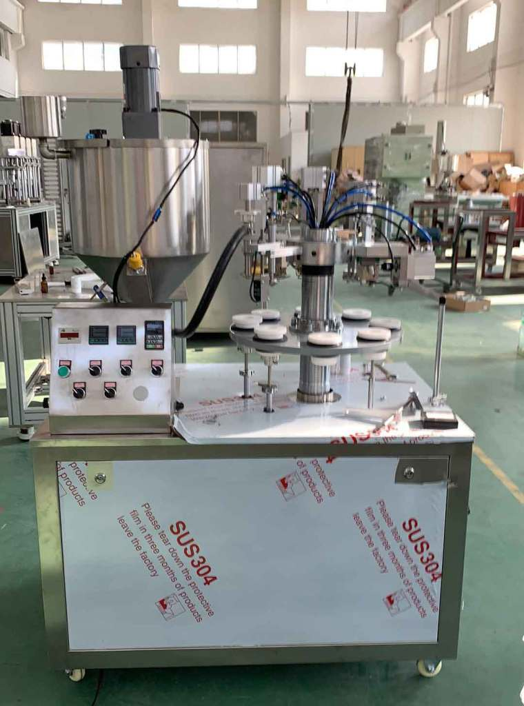 FGF-5 semi auto plastic tube filling sealing machine