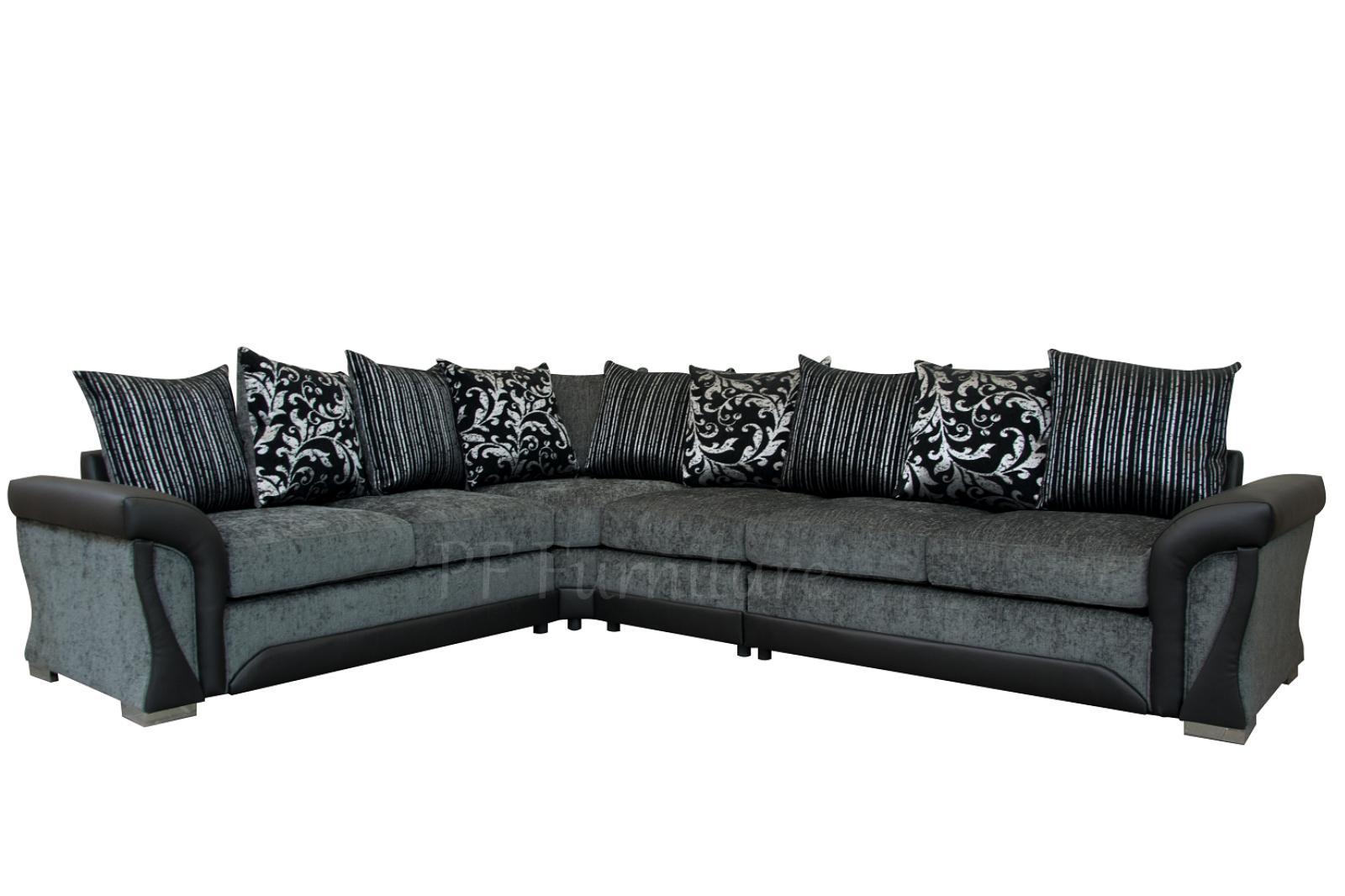 shannon corner sofa 3cr2 black grey