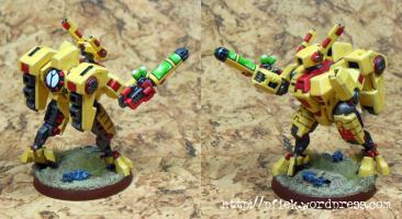 Bemalungsexperiment - XV8 Plasmagewehr