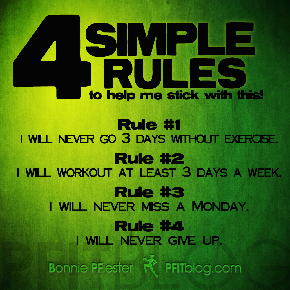 Fitness Quotes: 5 Simple Rules To Help Fitness Stick This Year » PfitBlog