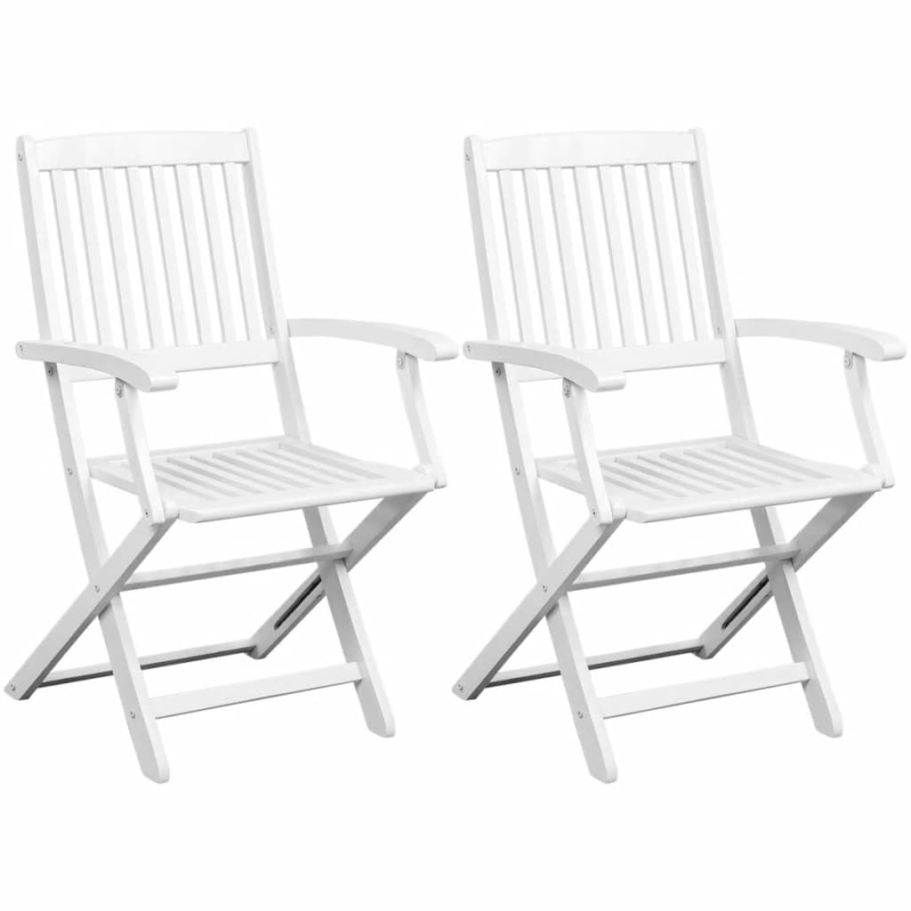2pcs Outdoor Folding Wooden Chairs Garden Dining Home