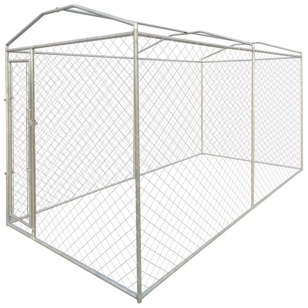 Heavy Duty Outdoor Dog Kennel With Canopy Top Lockable