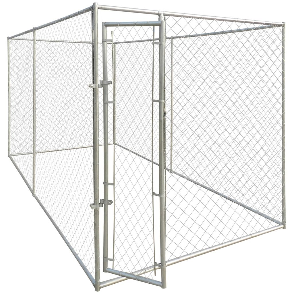 Outdoor Dog Kennel 13 X6 Large Chain Link 4 Panels Fence