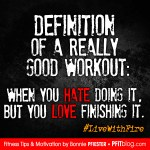 definition of a good workout