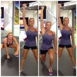 snatch overhead lunge