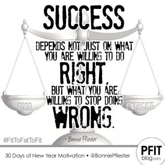 success - right vs wrong
