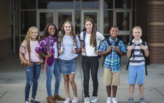 Diverse school age children