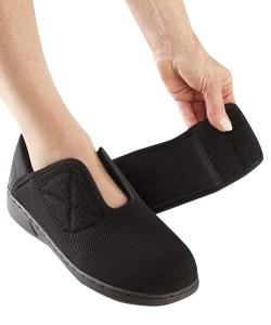 *Antimikrobielle Schuhe* Flüssigkeitsbarriere Extra breite Damen Komfortschuhe