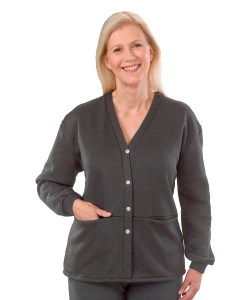 *PollyT* Damen Sweat Pflege Jacke mit Taschen
