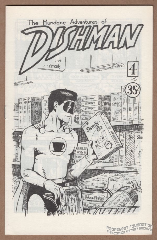 Dishman shops for groceries on the cover of issue #4.