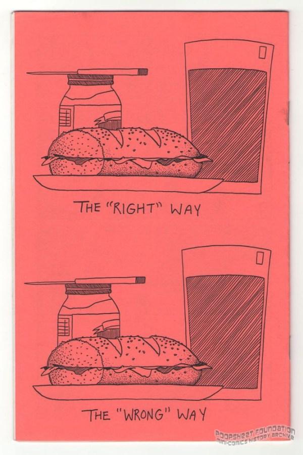 Cartoon featuring a sandwich by Tony Consiglio.