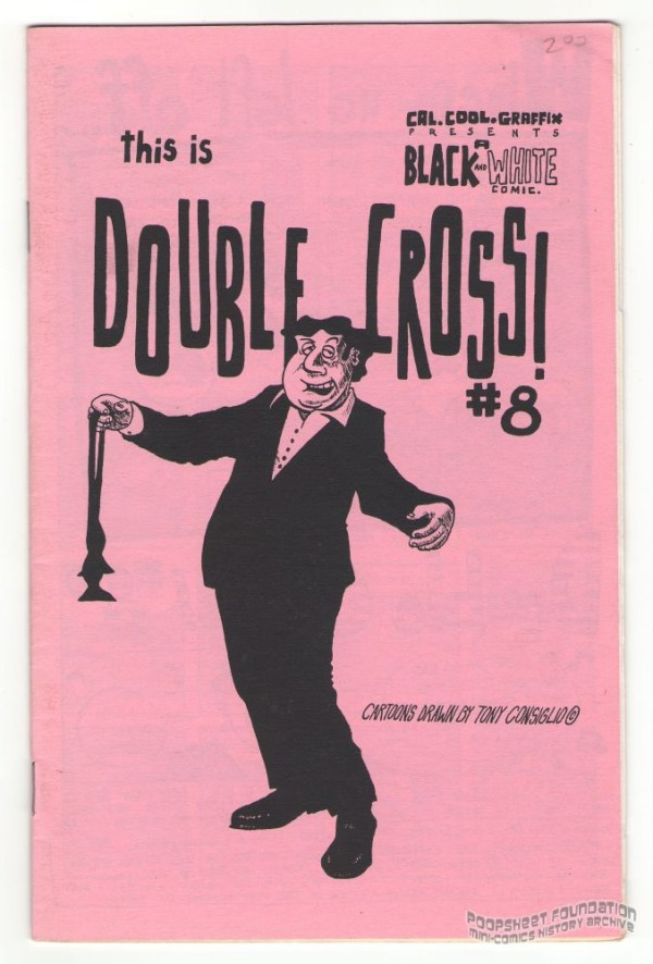 Double Cross #8 cover by Tony Consiglio.