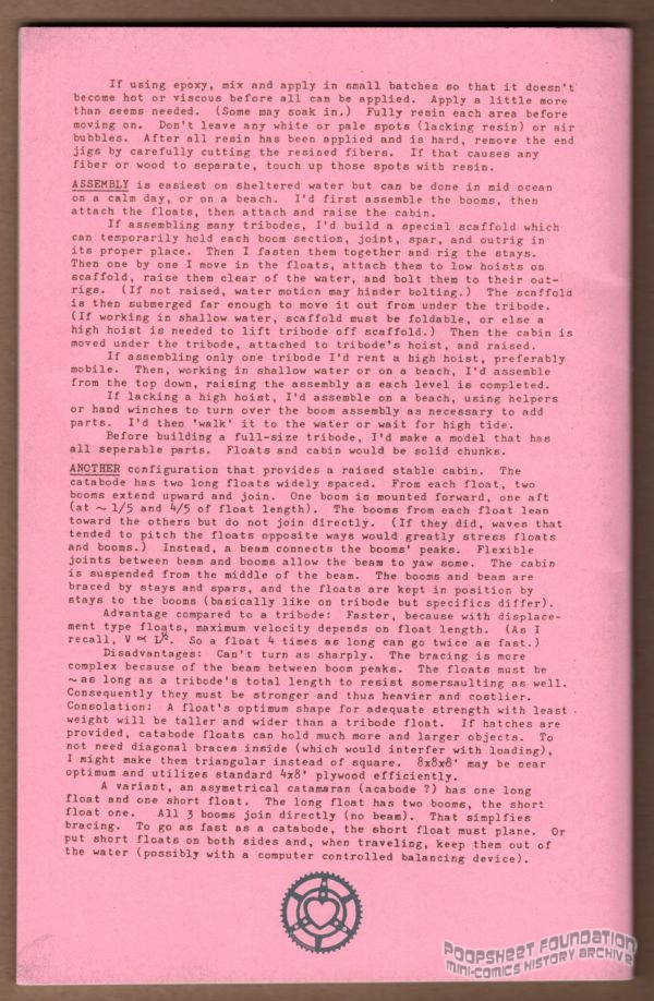 Text-heavy back cover to Dwelling Portably Collection #5