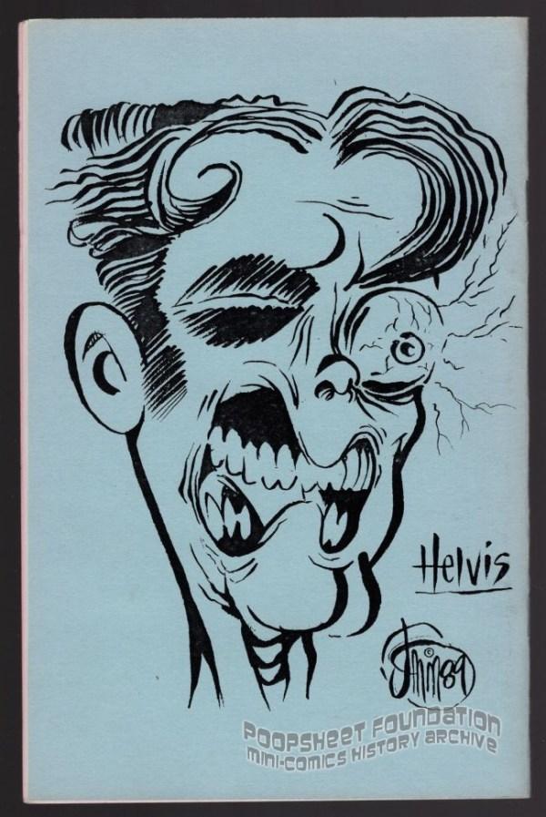Hey! #8 back cover art of Helvis by J. Michael McCarthy.