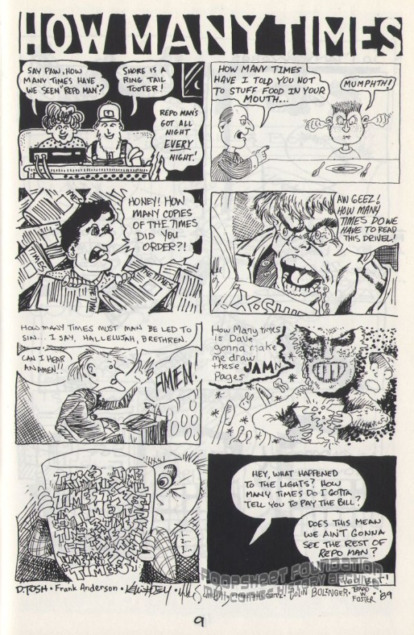 Jam comix sample page from Hey! #8.