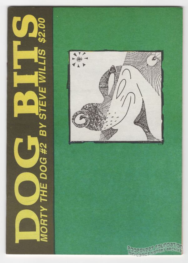 Front cover to Steve Willis' Dog Bits featuring Morty the Dog.