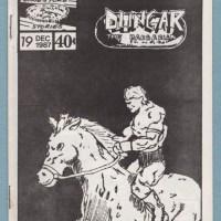 DUNGAR THE BARBARIAN #19 minicomic IAN SHIRES John Stever Dimestore mini 1987