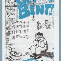 GET BENT! #5 / UNSHAVEN CHI #0 minicomix BEN T. STECKLER small press mini-comic flip-zine 1999