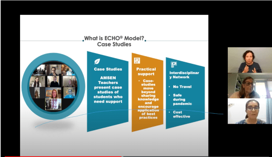 Bijal Lal and Margo Izzo present the Nisonger Center Tanzania ECHO Program model during a PFP-IDE webinar on university-led partnerships in May 2021.