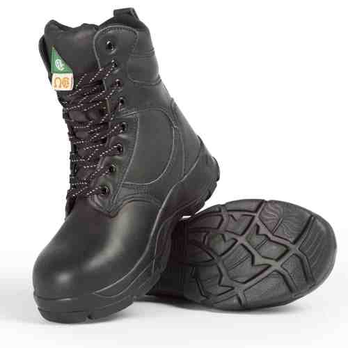 Black women's steel toe work boots