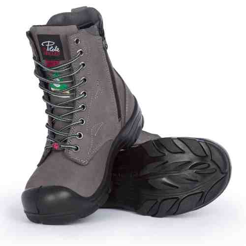 742d6a843bf Steel toe work boots for women | With zipper | CSA approved