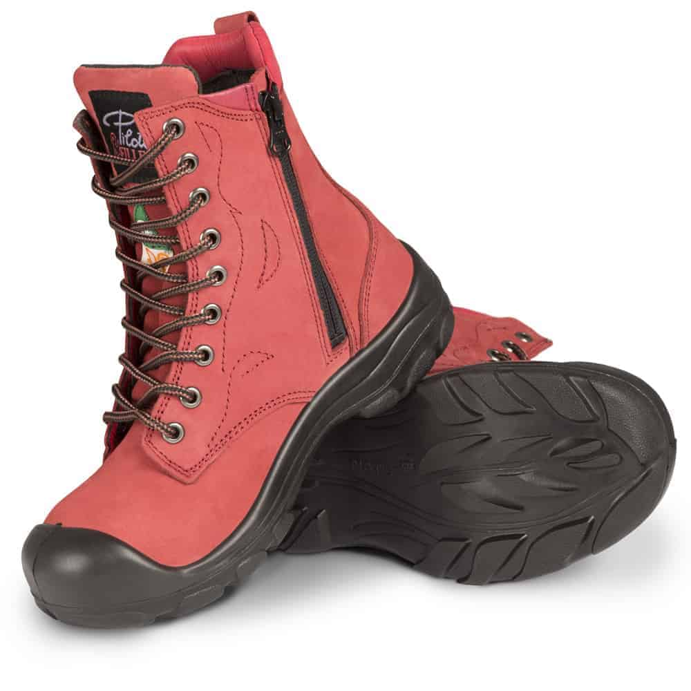 Steel toe work boots for women   With
